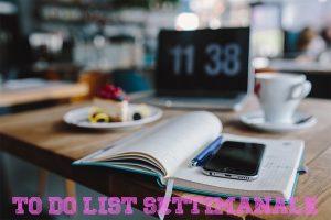 To do list: come organizzo il mio lavoro